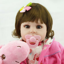 "22"" Doll Bebe Reborn Baby Newborn Lifelike Soft Silicone Vinyl Kids Girl R7H0"