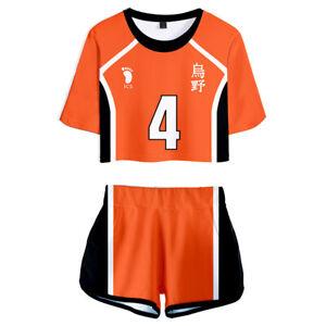 Haikyuu!! Karasuno High School Nishinoya Yuu Cosplay Summer Shirt Shorts