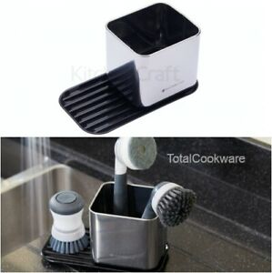 Master Class Kitchen Sink Tidy Sponge Holder and Brush Caddy, Stainless Steel