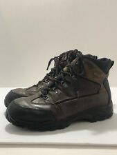 Men's Wolverine Waterproof Size 11 Soft  Toe Boot Brown Leather Work / Hiking