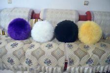 "Soft Plush Faux Fur 45cm Diameter Round 18"" Throw Pillow Seat Cushion pillowcase"