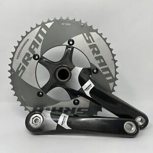 SRAM FORCE GXP 10-speed Oversized Double 55/42 175mm Carbon Fiber Crank XCLNT!