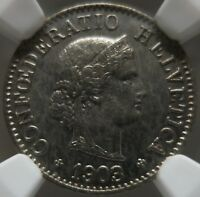 SWITZERLAND 5 Rappen 1903 B NGC MS 64 UNC