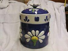 Vintage Flower Pattern Onieda Cookie Jar Hand Painted