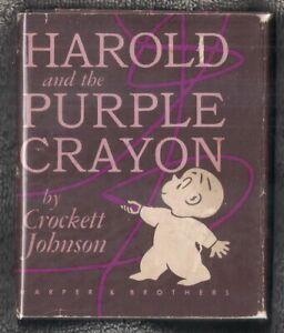 "Crockett Johnson ""HAROLD AND THE PURPLE CRAYON"" (1955) 1st Ed. Childrens Classic"