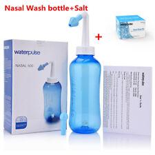 500ml Nasal Wash Neti Pot Nose Cleaner Bottles Nasal Irrigator+ 1 Box Salt Kit