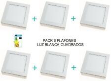 Plafón LED superficie de techo Ossun Luz blanca Cuadrado 20W Bajo consumo 25000h