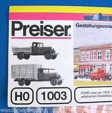 Preiser H0 1003 2x FORD LKW 1930 Bausatz Oldtimer OVP HO 1:87 scale trucks