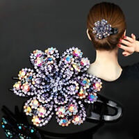 Women's Crystal Hair Clips Slide Grips Hair Claw Bobby Pins Hair Accessories