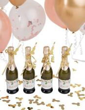 Aloha Party- Pink and Gold Glitter Bachelorette Straws with confetti. Bachlorett