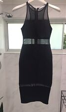 STUNNING 'Nikki Blossom' Black Dress With Mesh Cutouts   Size 6 As NEW
