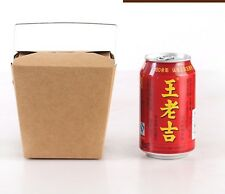 50X Kraft Noodle Box with Handle 780ml