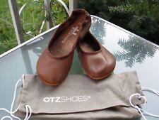 OTZ Shoes Women's Tan Goat Leather Lightweight Ballet Flats Shoes, size 37/6.5