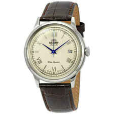 Orient FAC00009N0 2nd Gen. Bambino Ver. 2 Automatic Steel Leather Men's Watch - Silver/Brown