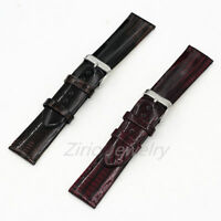 Fashion 20mm Bright Genuine Leather Watch Band Replacement Wristwatch Strap