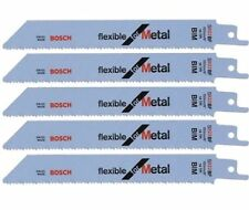 5 x Genuine Bosch S922BF 150mm Reciprocating Sabre Saw Blades for Metal Cutting