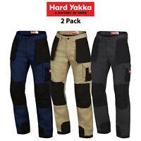 Mens Hard Yakka Xtreme Extreme Legends Work Cargo 2 Pack Pants Heavy Duty Y02210
