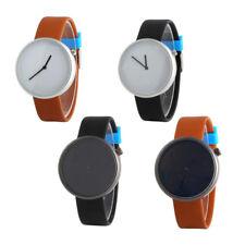 Bright Color Belt No digital No Second Mens Quartz Business Casual Watch Gift UK