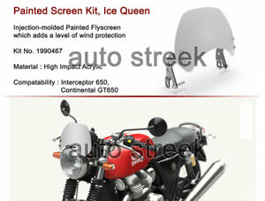 Royal Enfield GT and Interceptor 650 Ice Queen Fly Screen Kit Painted