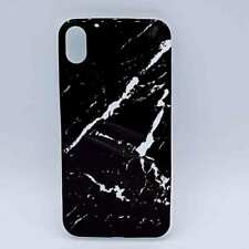 Voor IPhone XR - hoesje - zwarte marmer