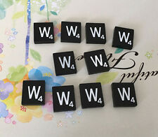 10 (TEN) Letter W, Black  Scrabble Tiles Letters, Individual, A to Z in Stock!