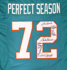 1972 DOLPHINS AUTOGRAPHED SIGNED JERSEY 11 SIGS GRIESE CSONKA JSA 159177