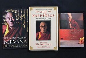3x His Holiness The Dalai Lama books, Art of Happiness, Many Ways to Nirvana +
