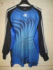 Maillot goal ADIDAS bleu noir shirt trikot maglia camiseta gardien de but L