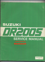 Suzuki DR200S (1985-1988) Genuine Factory Service & Repair Manual DR 200 S BV21