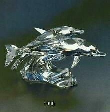 Scs Swarovski Collectors Society Annual Edition 1990 Dolphins Lead Me