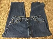 MENS LEVIS JEANS 550 SIZE 42 X 32 RELAXED FIT LEG STRAIGHT Measure 39 X 25