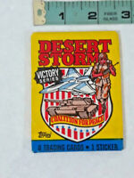 Vtg Desert Storm Victory Series Wax Pack of 8 Trading Cards (TOPPS 1991) Sealed