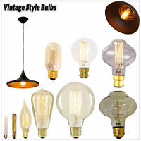 1x,3x Vintage Retro Filament Light Bulbs  Industrial Style Lights Edison 60W
