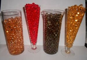 8oz. PKG. ROUND WATER ABSORBING GEL BEADS CRYSTALS PEARLS - MAKES 6 GALLONS