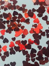 4 Grams /2 TSP  RED Heart Nail Glitter Sequin Valentine's Day 3mm & 5mm