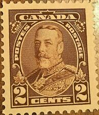 CANADA STAMP 2 CENTS GEORGE V BROWN