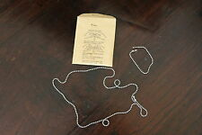 NOS,DOG TAG CHAINS WW2  1944 US GENUINE ISSUE IN GI PACKAGE OF 2 CHAINS