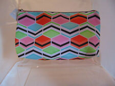 Clinique MULTI COLOURED  print make up bag - brand new -SALE