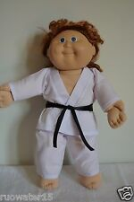 "Handmade Doll Clothes White Karate Uniform Gi Judo TKD 16"" Cabbage Patch Kids"