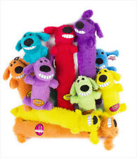 """Multipet Loofa dog toy 6"""" (Free Shipping in USA) Colors Vary"""
