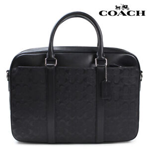 COACH F72230 Signature Leather PERRY SLIM Briefcase Bag NWT