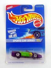 HOT WHEEL CUSTOM CORVETTE #405 Sports Car 2/4 Die-Cast Car MOC COMPLETE 1995