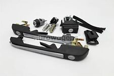VW Golf MK2 Black Complete Set of Door Locks Handle 3 Door