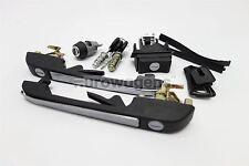 VW Golf MK1 MK2 Black Complete Set of Door Locks Handle 3 Door