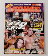 Rey Mysterio Jr Autographed Super Luchas Wrestling Magazine Mask AAA TNA