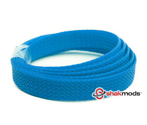 5 meters Shakmods MatteDark Blue 10 mm High Density Braided Expandable Sleeving
