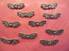 Mariposa De Plata Tibetana ala Perlas 10 por paquete