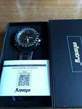 Mens Large Dial INFANTRY Digital Quartz Heavy Black  SS Watch & Band  W785
