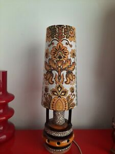 40cm Funky West German  Lampshade fat lava lamp  70s 60s retro vintage kitch