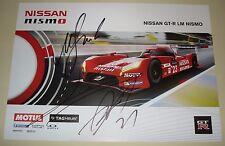 Le Mans 2015 FIA WEC Nissan Motorsports GT-R LM Nismo Car #21 Autographed Card